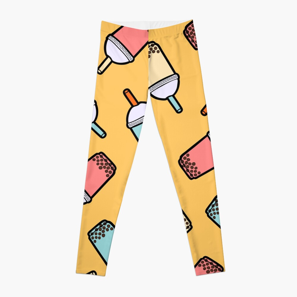 Bubble Tea Pattern Leggings