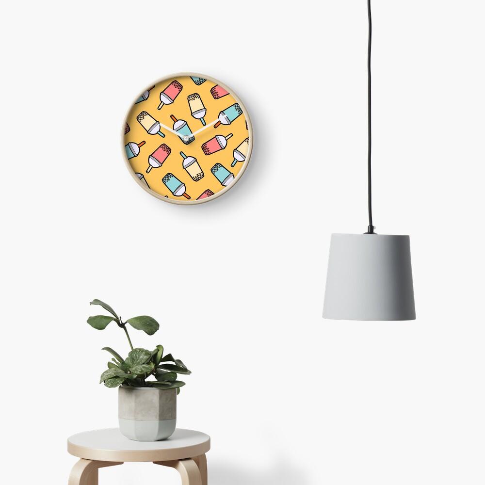 Bubble Tea Pattern Clock