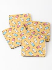 Bubble Tea Pattern Coasters