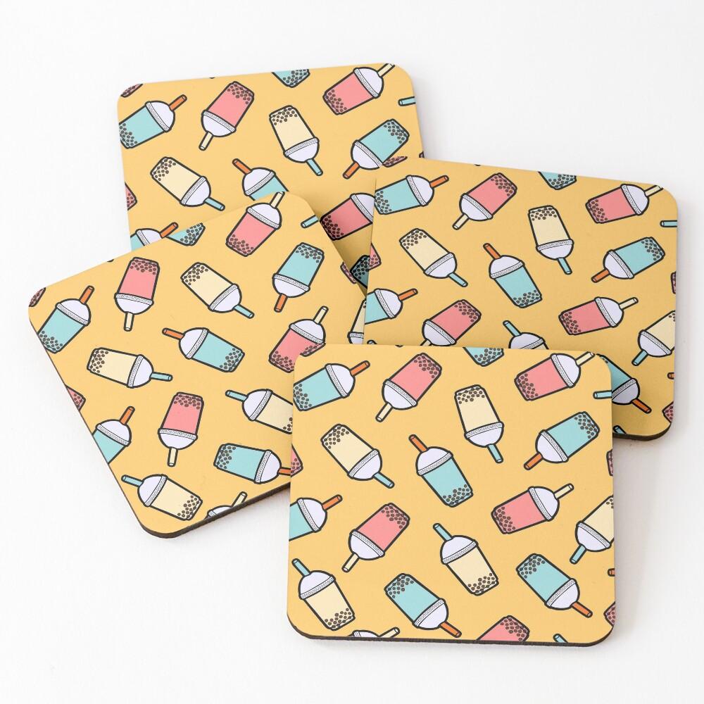 Bubble Tea Pattern Coasters (Set of 4)