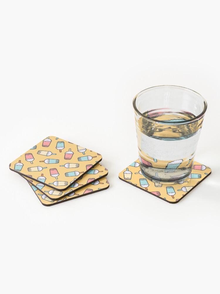 Alternate view of Bubble Tea Pattern Coasters (Set of 4)