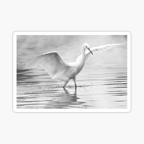 The Dancing Egret Sticker