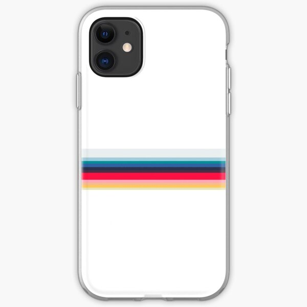 Simply Striped- White iPhone Soft Case