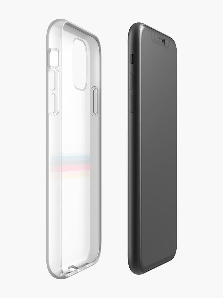coque avec support , Coque iPhone «Simplement rayé - Blanc», par altizzy