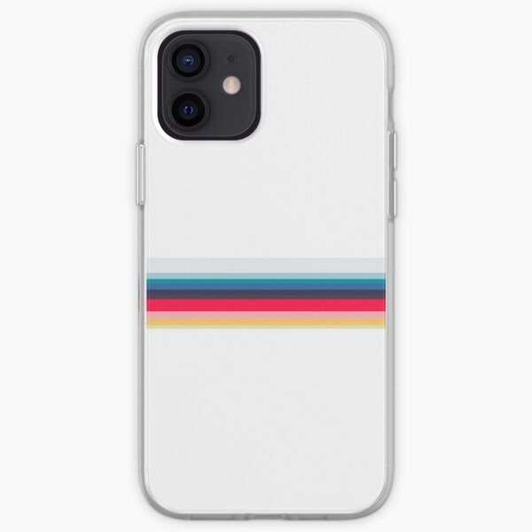 Simply Striped- Blanco Funda blanda para iPhone