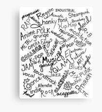 Music Genre Typographic Design Metal Print