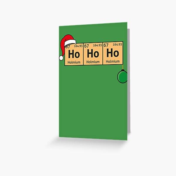 Chemistry Christmas Greeting Card