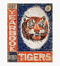 Distressed Detroit Tiger Yearbook 1964 Photographic Print