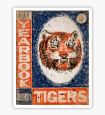 Distressed Detroit Tiger Yearbook 1964 Sticker