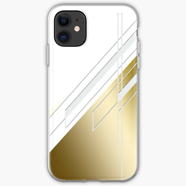 Gold abstract clock iPhone Soft Case