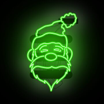 Neon Santa claus says Merry Christmas from Tokyo 2017 by Wavelordsunited