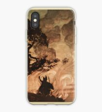 The Rhinegold & The Valkyrie by Richard Wagner art Arthur Rackham 1910 0305 Wotan Turns and Looks back at Brunnhilde iPhone Case