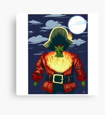 Zombie Ghost Pirate LeChuck Canvas Print