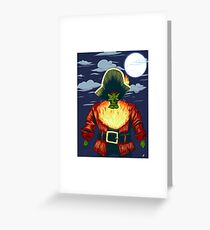 Zombie Ghost Pirate LeChuck Greeting Card