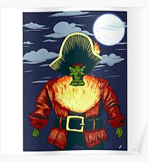 Zombie Ghost Pirate LeChuck Poster