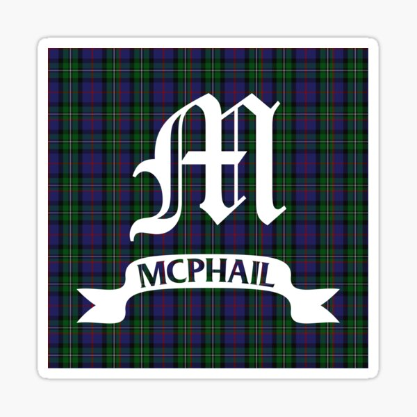 McPhail Hunting Tartan with Clan Name Sticker
