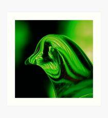 Green Willow Grouse Art Print