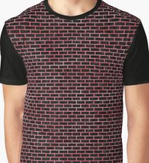 BRICK1 BLACK MARBLE & RED WATERCOLOR (R) Graphic T-Shirt