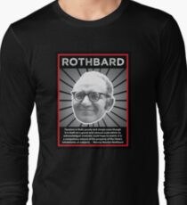 Murray Rothbard with Quote Long Sleeve T-Shirt