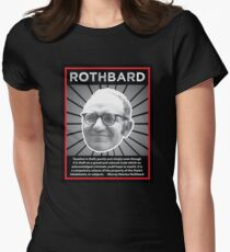 Murray Rothbard with Quote Women's Fitted T-Shirt