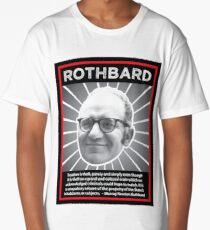Murray Rothbard with Quote Long T-Shirt