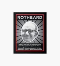 Murray Rothbard with Quote Art Board