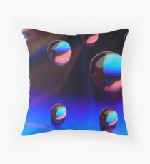 Curves In Pink And Blue Throw Pillow