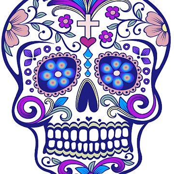 Mexican Sugar Skull by PugD