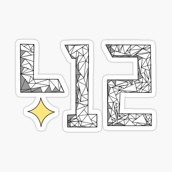 PGH PA 412 Area Code - Polyart Polygon Pittsburgh Sticker