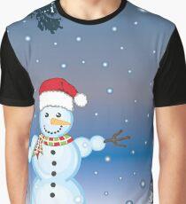 Snowman Graphic T-Shirt