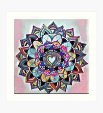Heart mandala Art Print