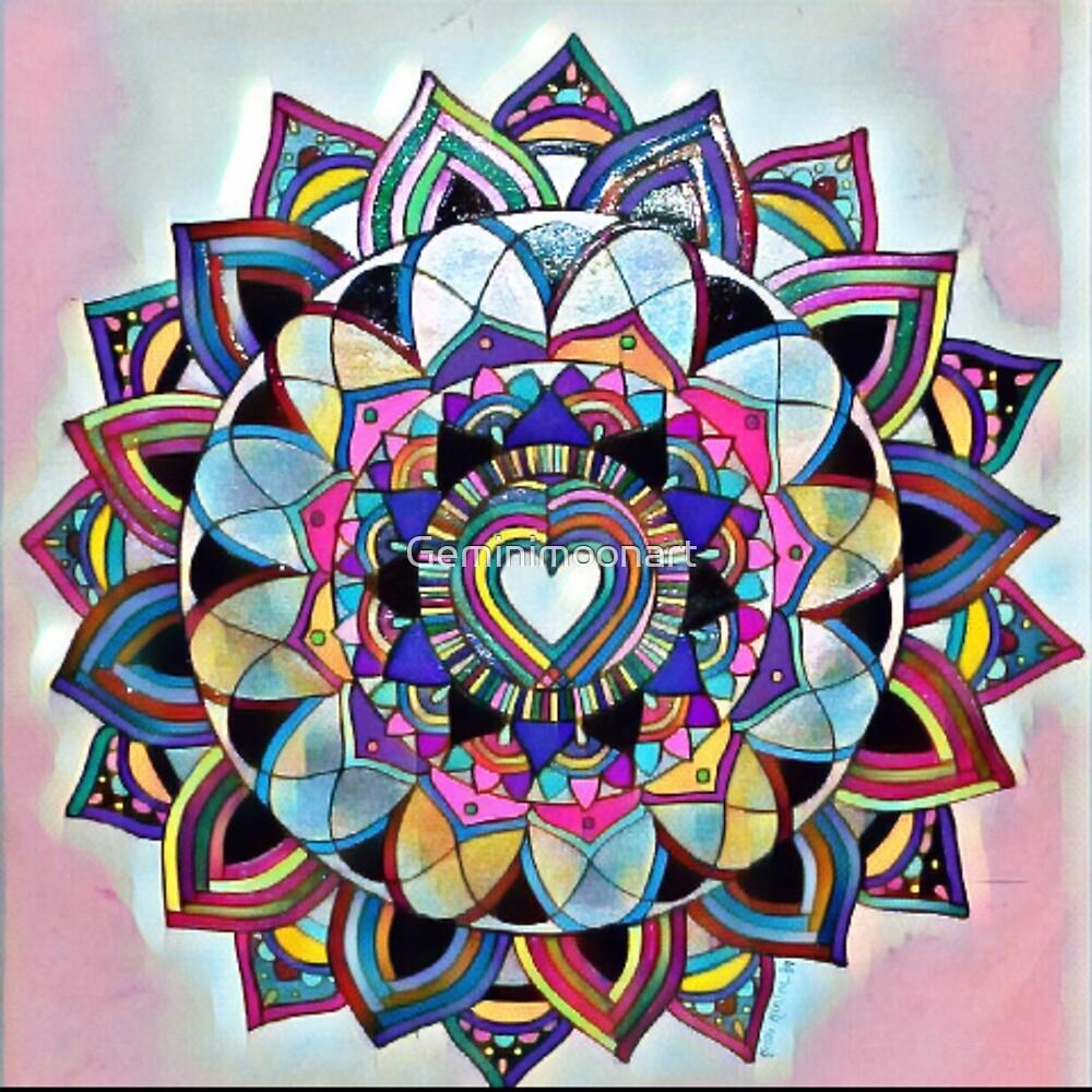 Mandala de coeur par geminimoonart redbubble - Mandala de coeur ...