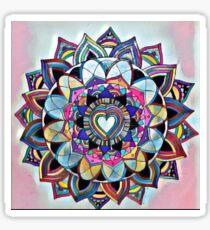 Heart mandala Sticker