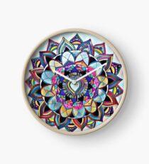 Heart mandala Clock