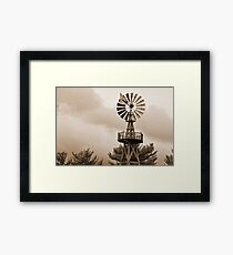 Power Wind Mill  Framed Print