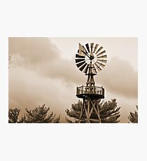 Power Wind Mill  Photographic Print