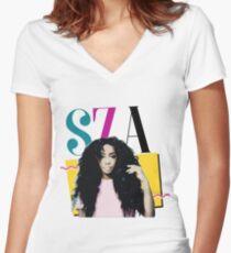 SZA - 90's Inspired Women's Fitted V-Neck T-Shirt