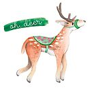 """Oh, deer"" - Christmas Illustration by Vena Carr"