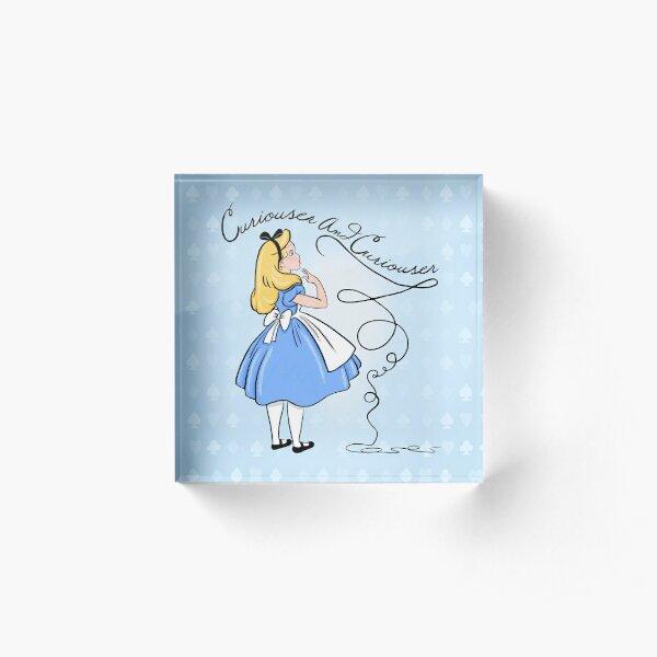 Curiouser And Curiouser Said Alice Acrylic Block