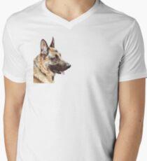Alsatian Men's V-Neck T-Shirt