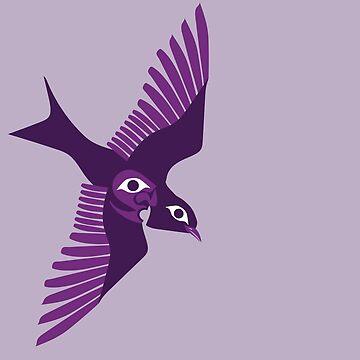 Purple martin by Ceciken
