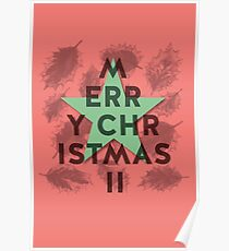 MERRY HAPPY SNOWY CHRISTMAS GREETINGS Poster
