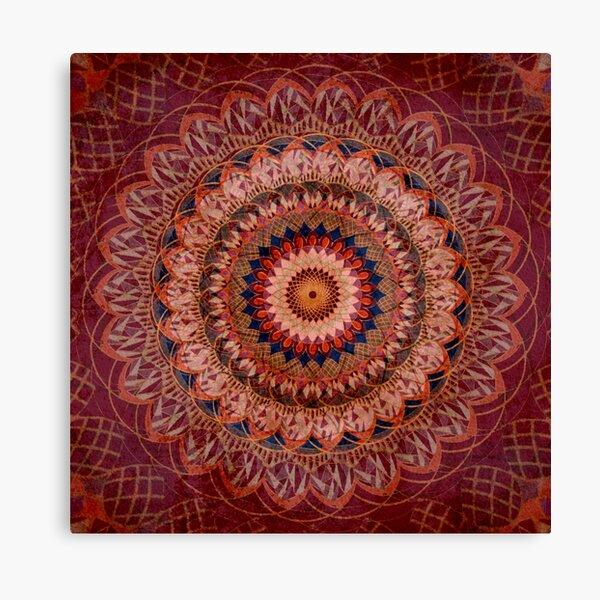 Mandala Gemstone Glory Canvas Print