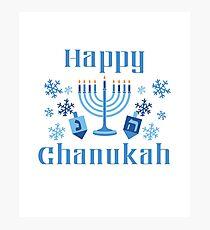 Happy Chanukah Photographic Print