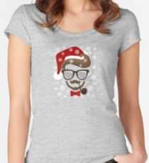 Hipster Holiday Women's Fitted Scoop T-Shirt