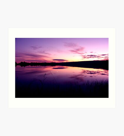 Sundown on the lake ... Art Print