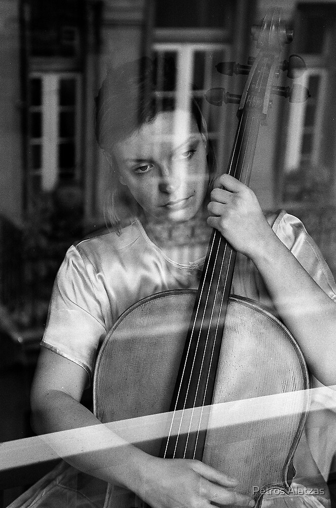 Cello player by Petros Alatzas