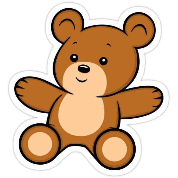 cartoon teddy bear stickers by toonanimal redbubble