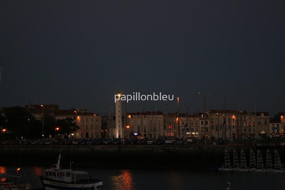 La Rochelle Lighthouse at Night by Pamela Jayne Smith
