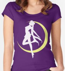 Sailor Moon logo clean Women's Fitted Scoop T-Shirt